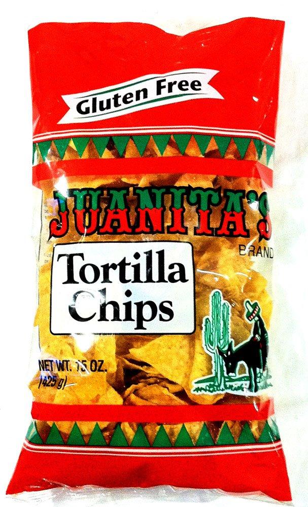Juanita's Gluten Popular product Free TORTILLA CHIPS Miami Mall Pack 2 15oz
