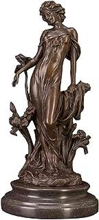 FTFTO Statue per Attrezzature viventi Vassoio per Anello Giraffa a Coda Lunga Piatto in Metallo Placcato Argento