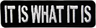 EmbTao It is What It is Funny Biker Embroidered Iron On Sew On Patch