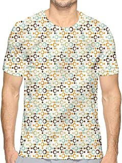 Funny t Shirt Abstract,Footprints with Droplets Men's and Women's t Shirt