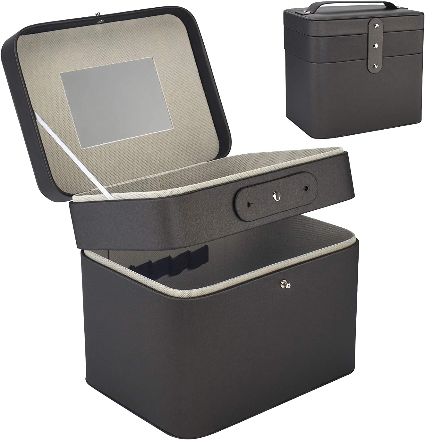 Jazzpuss Makeup Case Box Ranking integrated 1st place Organ Detroit Mall Mirror 3-Layer with