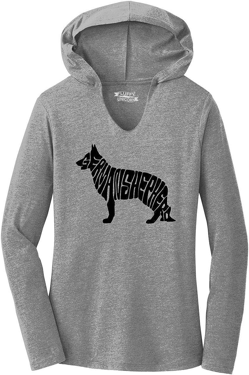 Comical Shirt Ladies German Shepherd Hoodie Shirt