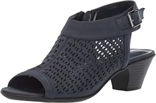 Easy Street Women's Jill Dress Casual Sandal with Cutouts Heeled, Navy 8 N US