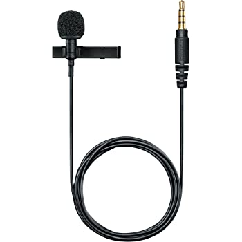 """Shure MVL Omnidirectional Condenser Lavalier Microphone [1/8"""" (3.5mm)] + Windscreen, Tie-Clip, Mount and Carrying Pouch"""