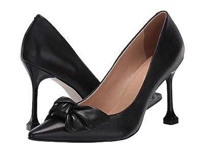 Massimo Matteo Bow Pointy Toe Pump (Black) Women