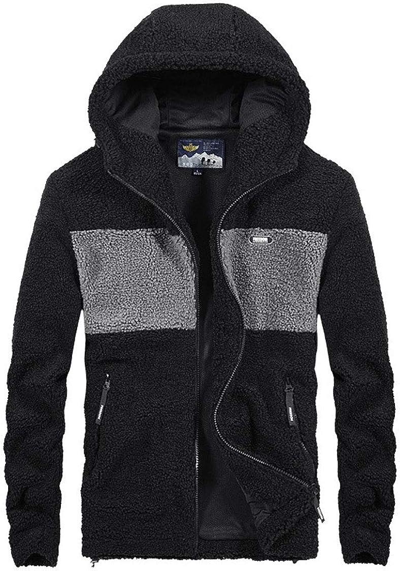 ebossy Men's Full Zip Athletic Hooded 5 ☆ very popular Sherpa Fleece Elegant Jack Thermal
