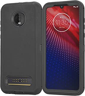 Stroson for Moto Z3 Case, Moto Z3 Play Case with Built-in Screen Protector and Belt Clip Heavy Duty Shockproof Cover Full ...