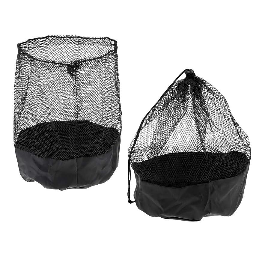 母性たるみ狂信者T TOOYFUL マーカーコーン 収納バッグ 収納巾着バッグ メッシュバッグ ナイロン製 直径約21cm 2個入り