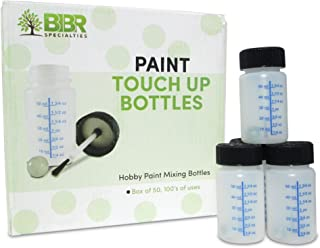 BIBR Specialties Paint Touch Up Bottles With Brush And Mixing Ball - Box Of 50-2 oz/60 ml Capacity - Ideal For Car, Automo...