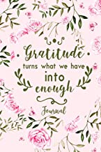 Gratitude Turns What We Have Into Enough Journal: A Personal Daily Journal with Inspirational Quotes