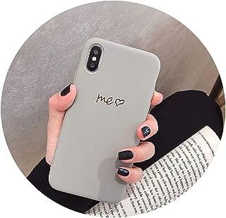 私はFor iPhone X XS、灰色の私にとっては、For iPhoneのXマックスXrを女性アンチphonexr Tupをソフトケース8 6Sの7plus秋のためのFor iPhone X 7のケースのためにUを愛し