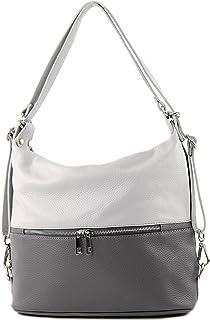 modamoda de T189 - ital. Damen Rucksack Tasche 2in1 aus Leder