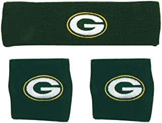 NFL Wristband Headband 3-Piece Set with Team Logo