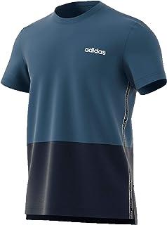 adidas Men's Mens Celebrate the 90s Colorblock T-Shirt, Blue (Tech Ink/legend Ink/white)