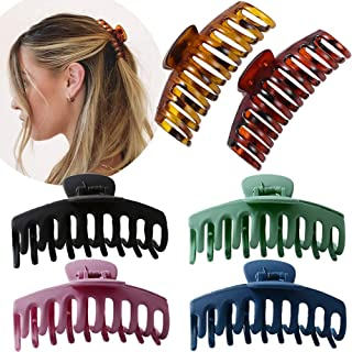 Large Hair Claw Clip for Women - 4.3″ Jumbo Hair Clips Strong Hold Hair Catch Barrette Jaw Clamp for Thick/Thin Hair Torto...