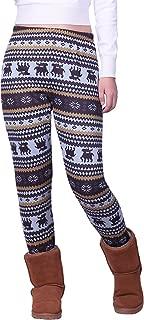 Women's Winter Leggings Warm Fleece Lined Thermal High Waist Patterned Pants