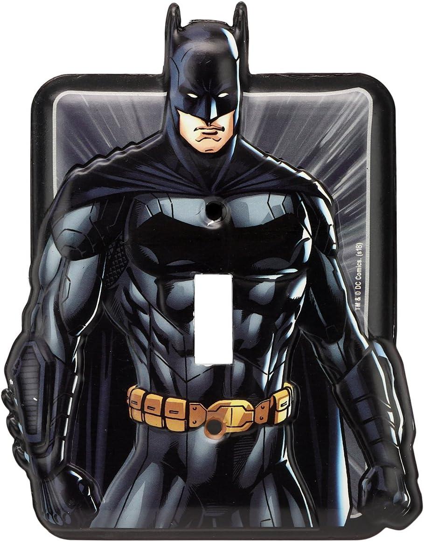 Open Road Brands Justice League Batman Tin Metal Wall Light Switch Plate