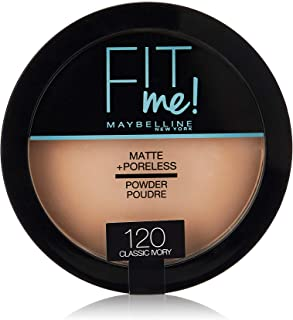 Maybelline New York New York Fit Me Matte Poreless Powder - 120 Classic Ivory, 14 g