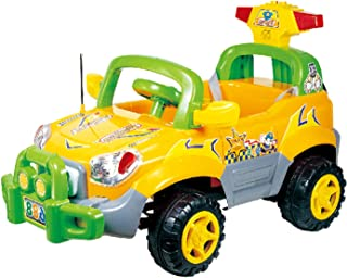 ride on car yellow by best toy 29-688