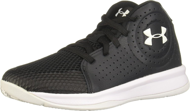 Under Armour Pre School 2019 Basketball Shoe, Black (003)/White, 2 US Unisex Little Kid