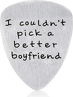 Boyfriend Gifts from Girlfriend - I Couldn't Pick A Better Boyfriend Guitar Pick Valentine's Day Gift for Boyfriend Guitar...