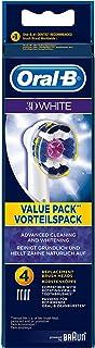Oral-B 3D White - Cabezales de recambio (4 unidades), colores aleatorios