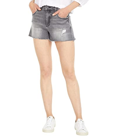 KUT from the Kloth Jane High-Rise Shorts with Fray Hem in Brimming