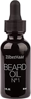 ZilberHaar Beard Oil №1 - Pure, Organic Moroccan Argan and Jojoba Oil for Natural Beard Growth and Hydration - 1 oz - Free Beard Comb Gift