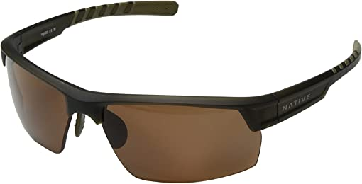 Matte Moss/Brown Polarized Lens