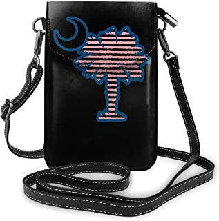 Small Crossbody Bags Palmetto Moon Cell Phone Purse With Credit Card Slots Wallet Shoulder Bag For Women And Teen Girls