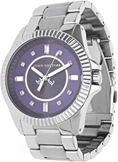 Juicy Couture Stella Women's Quartz Watch with Blue Dial Analogue Display and Silver Stainless Steel Bracelet 1900926
