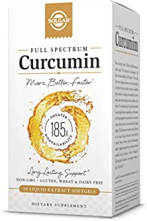 Solgar Full Spectrum Curcumin Liquid Extract Softgels - 90 Count - Faster Absorption - Brain, Joint & Immune Health - Non-...