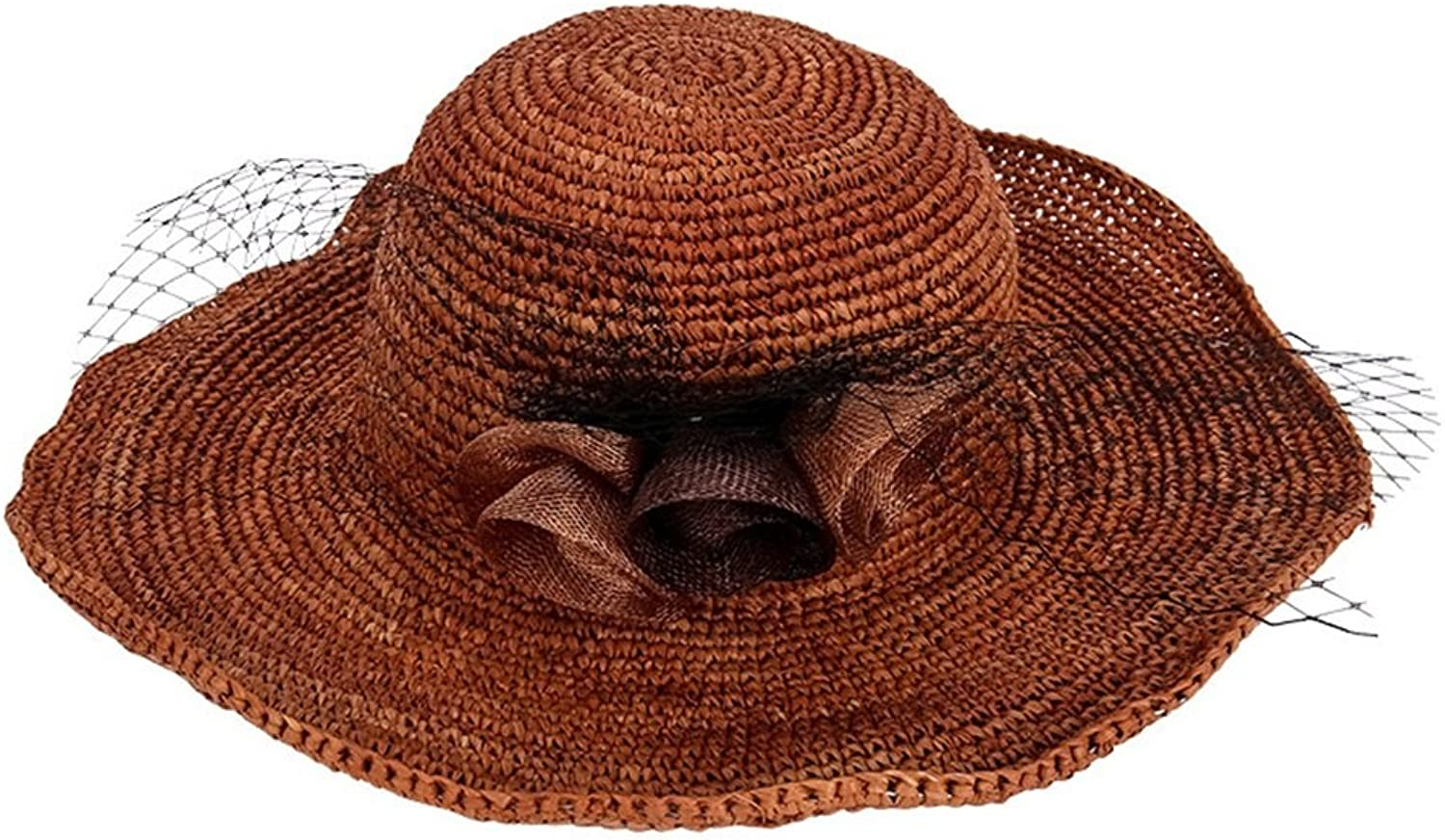 897eca6094d2b6 Flower Straw Hat Lady in Spring and Summer Sun Predection Hat Female (Size  ...