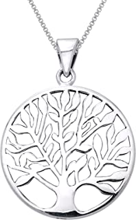 Sterling Silver Large Celtic Tree of Life Pendant Necklace 18