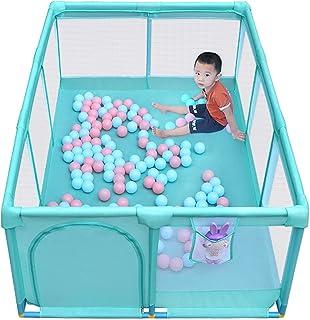 قفص لعب للطفل، ساحة لعب آمنة للمنزل في الداخل والخارج، مركز نشاط قوي ودور (الحجم: 120 × 180 × 66 سم)
