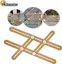 Amenitee Titanium Alloy Angle Finder Tool-Universal Angularizer Ruler - Full Metal Multi Angle Measuring Tool-Upgraded Aluminum Alloy Ruler (CHAMPAGNE GOLD)