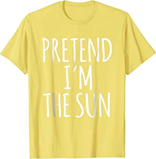 Lazy Funny Halloween Costume Shirt - Sun Solar System Space