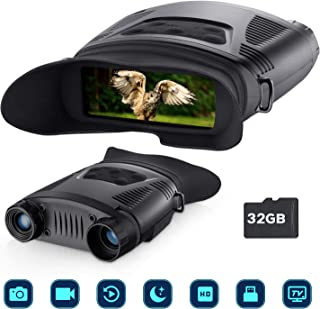 BNISE Night Vision Binoculars Hunting Binoculars-Digital 7x21mm Infrared Night Vision Portable Hunting Scopes with Large Viewing Screen Can Take Day or Night IR Image & Video from 200m/700ft