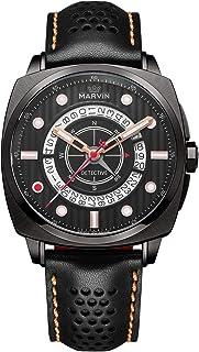Marvin 高級腕時計 レザー腕時計バンド スイス製クォーツムーブメント 防水 ステンレススチール