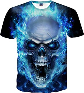JJLIKER Men 3D Printed Graphic Short Sleeve T-Shirts Summer Casual Cool Tops Tees Crewneck Digital Colorful Blouse S-5XL