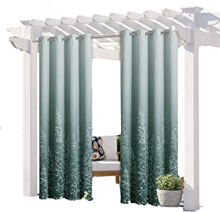 Waterproof Indoor/Outdoor Curtains for Patio, Sun Blocking Blackout Curtains Thermal Insulated Outdoor Drape, with Gromme...