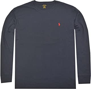 Men Long Sleeve Pony Logo T-Shirt (Small, Ink)