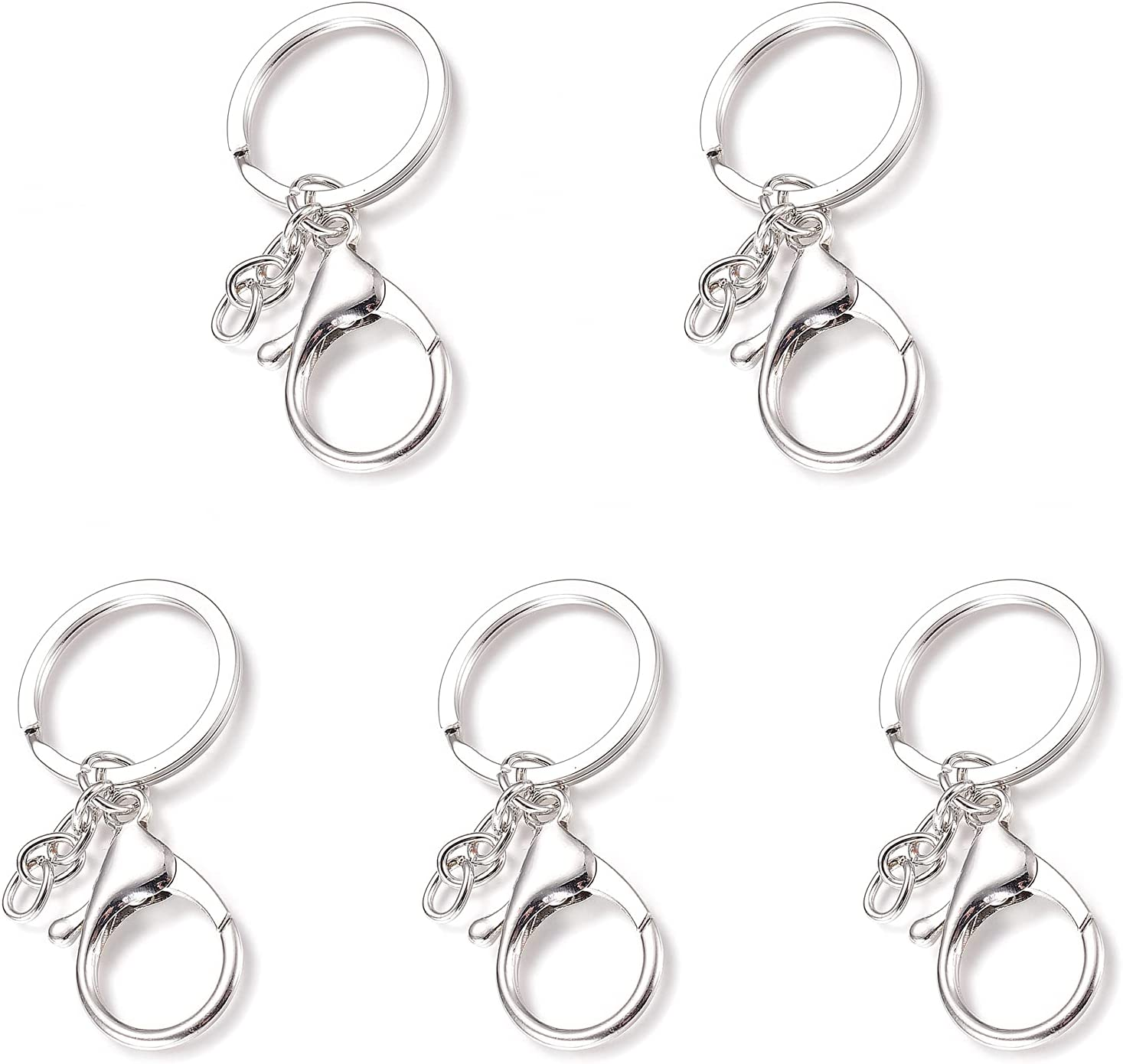 Ornaland Large-scale Fashion sale 5 Pcs Metal Lobster Claw Lanya Key Keychains with Clasp