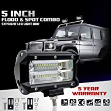 Studyset High Power 72W Double Row LED Light Cross-Country Lamp Waterproof IP67 Enhanced Lighting for SUV Truck 5Inch