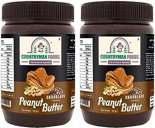 Countryman Foods Peanut Butter Chocolate Flavour 1 kg ( 500 x 2 ) | Premium, Gluten Free, Non-GMO, Vegan, Tasty, Healthy |