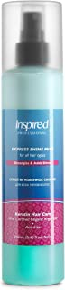 Inspired Professional Express Shine Mist Keratin Prevents Split Ends & Frizz Protects-Argan Peptides Complex Damage Repair Leave In Conditioner Hair Instant Easy Comb Detangling Spray 250ml/8.45fl.oz