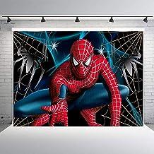 zlhcgd 7x5FT Superhero Spiderman Photography Vinyl Photo Background for Kids Birthday Party Backdrops Decoration