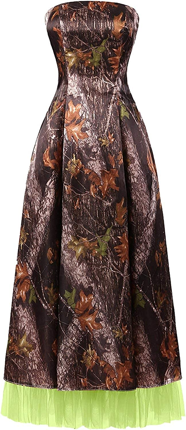 DINGZAN Camo Mother of The Bride Dresses Wedding Guest Formal Gowns
