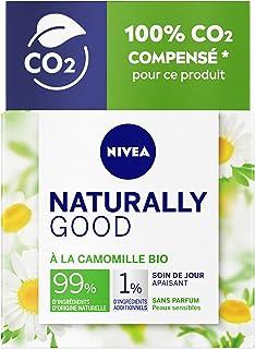 NIVEA NATURALLY GOOD Soin de Jour Peaux Sensibles 50 ml, Soin visage avec 99% d'ingrédients d'origine naturelle, crème de ...