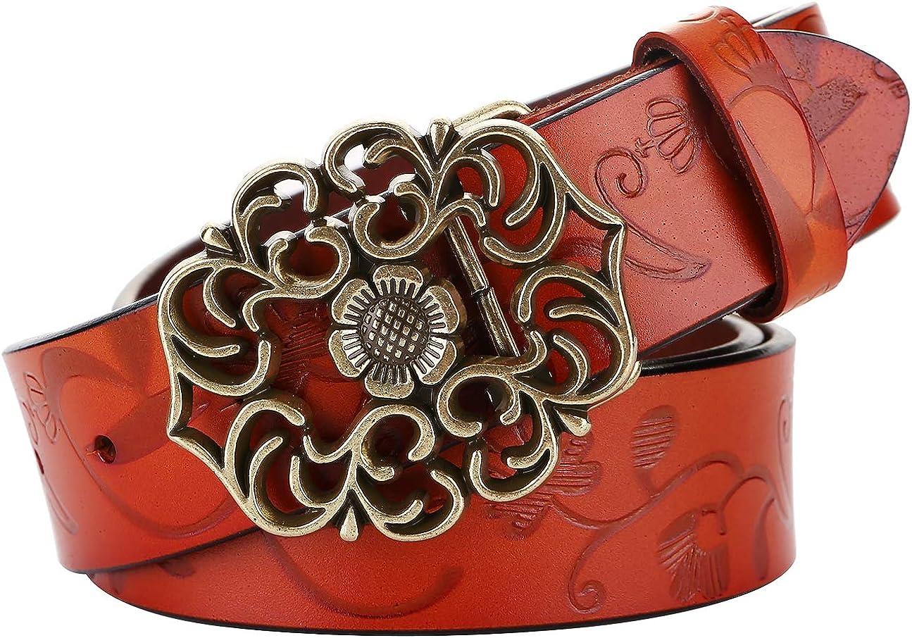 Women's Leather Belt for Max 78% OFF Dress Jeans Genuine Leathe Genuine Vintage